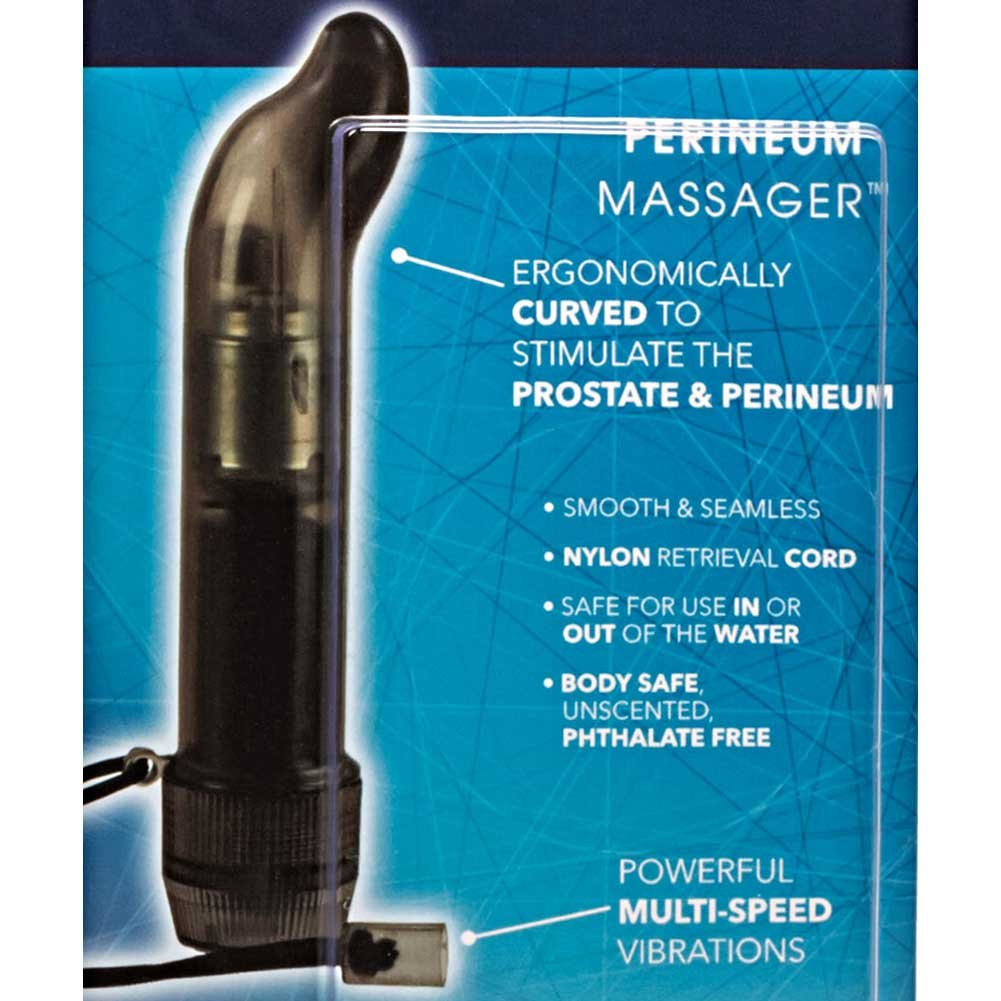 "CalExotics Dr. Joel Kaplan Perineum Massager Vibrating Anal Probe 5.5"" Black - View #1"