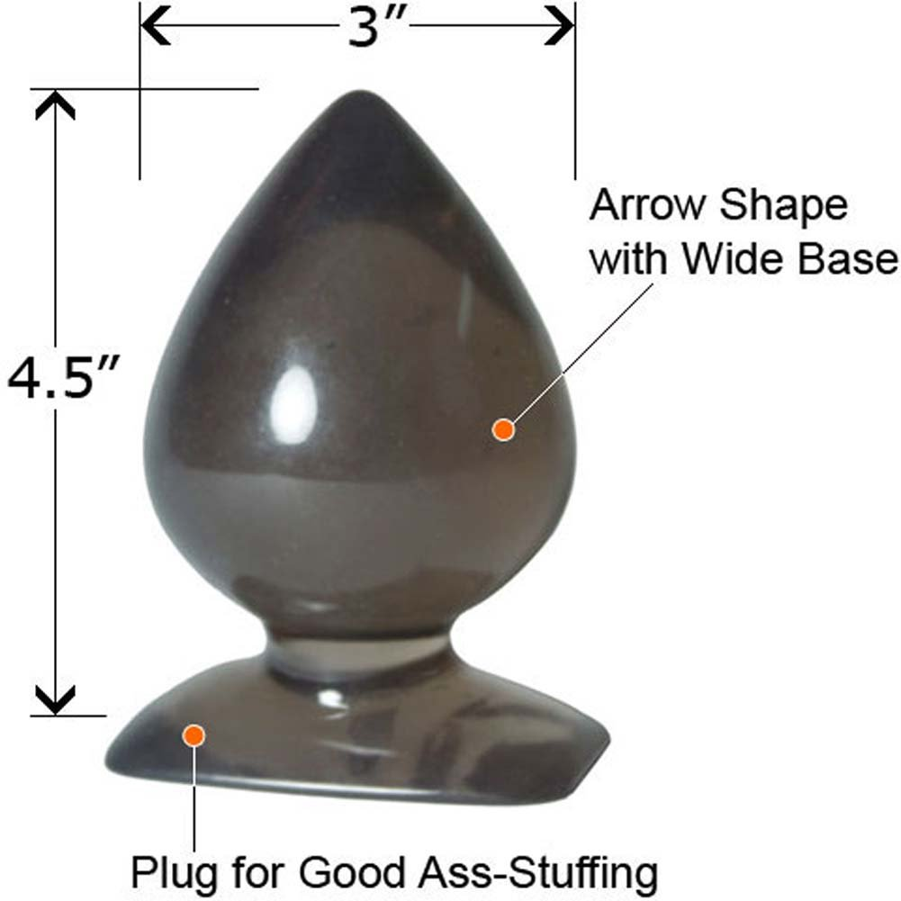 "GumDrops Ace of Spades Butt Plug 4.5"" Charcoal - View #1"