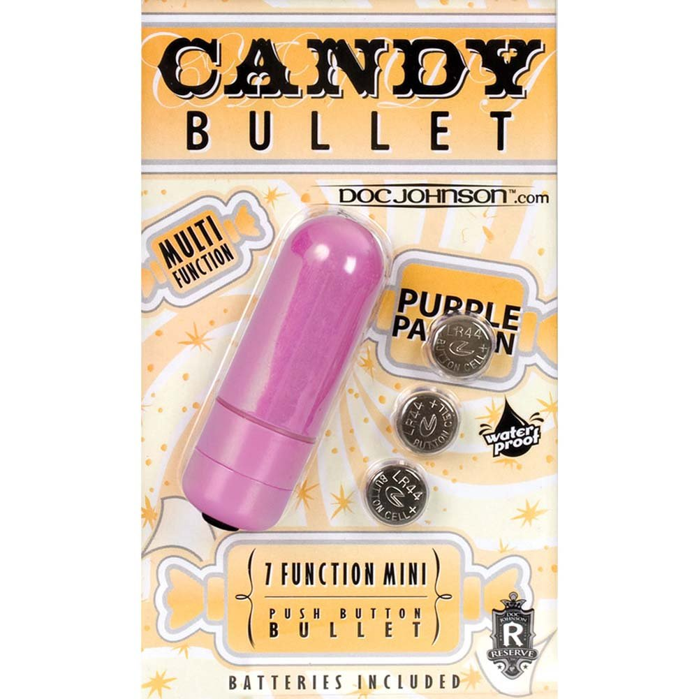 Candy Bullet Waterproof 7 Function Mini Vibe Purple Passion - View #2