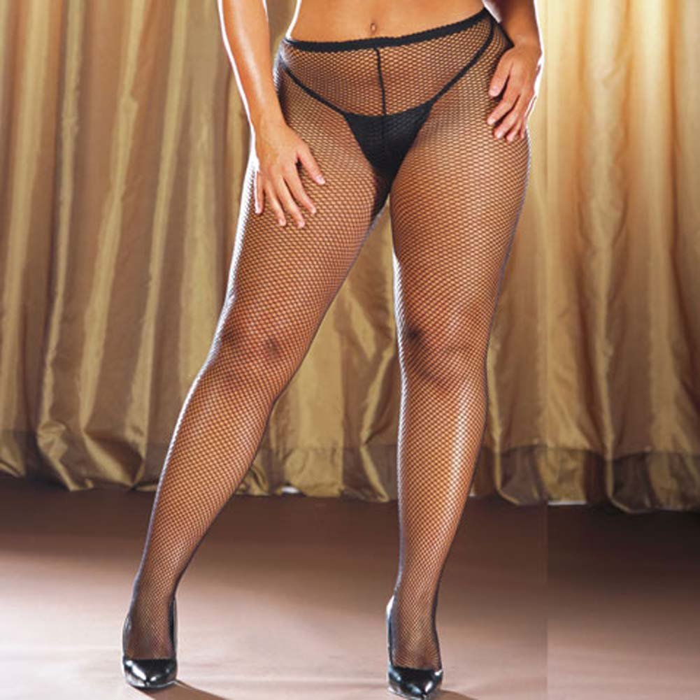 Fishnet Pantyhose Black Plus Style 0014X - View #1