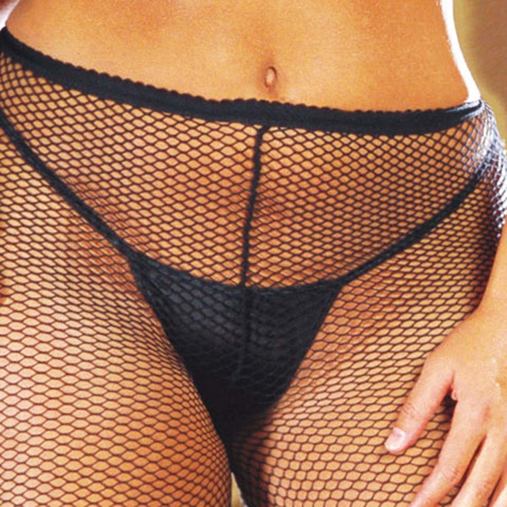 Fishnet Pantyhose Black Plus Style 0014X - View #3