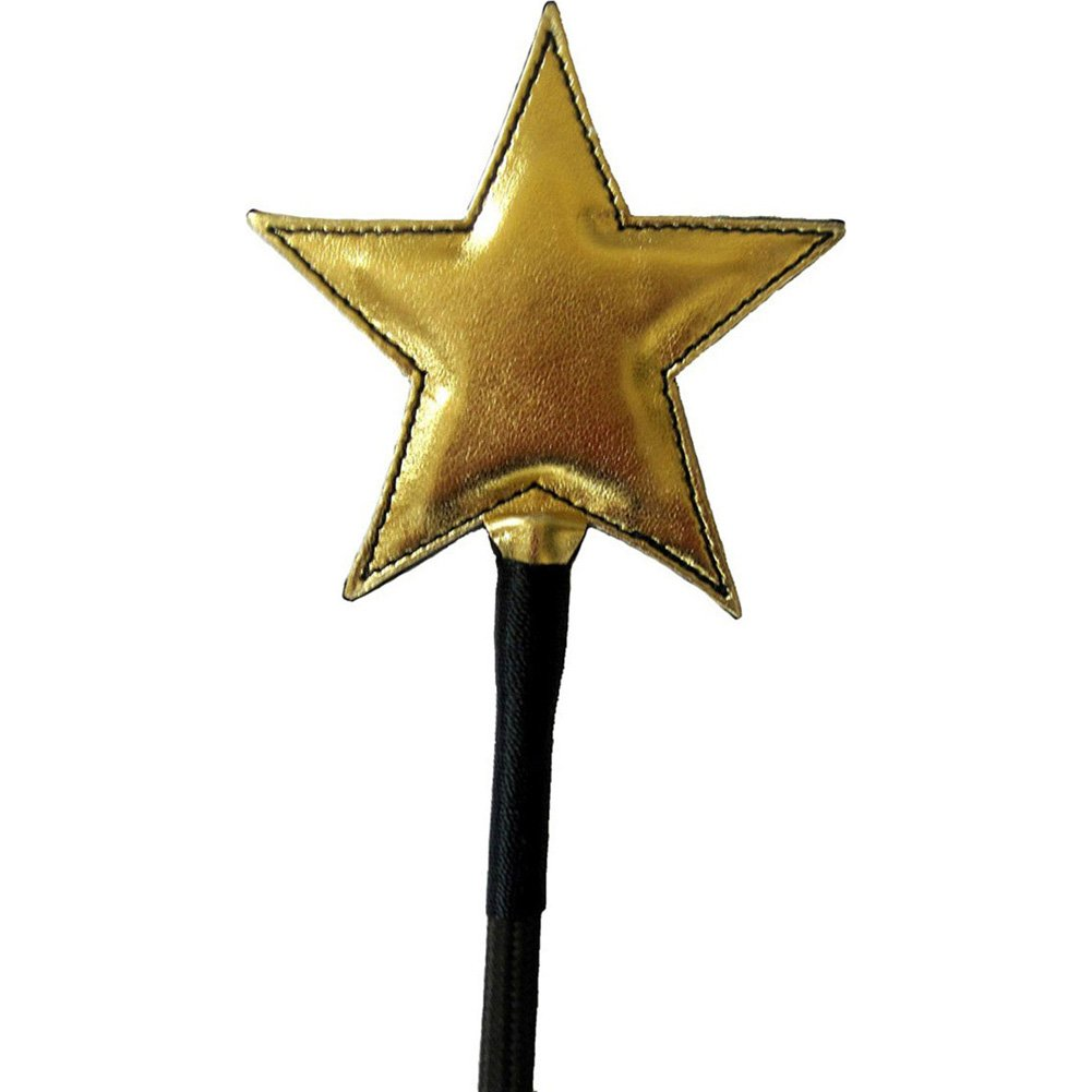 "Shining Star Riding Crop 24"" Black/Gold - View #1"