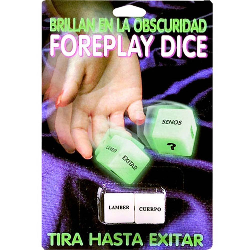 Foreplay Dice Glow in the Dark Spanish Version Erotic Game - View #1