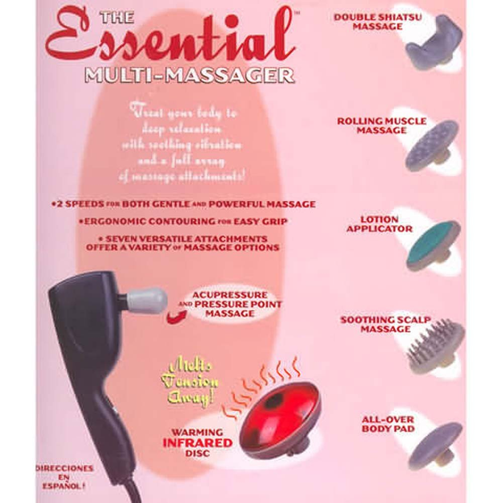 Essential Electric Multi Massager with 7 Attachments - View #3