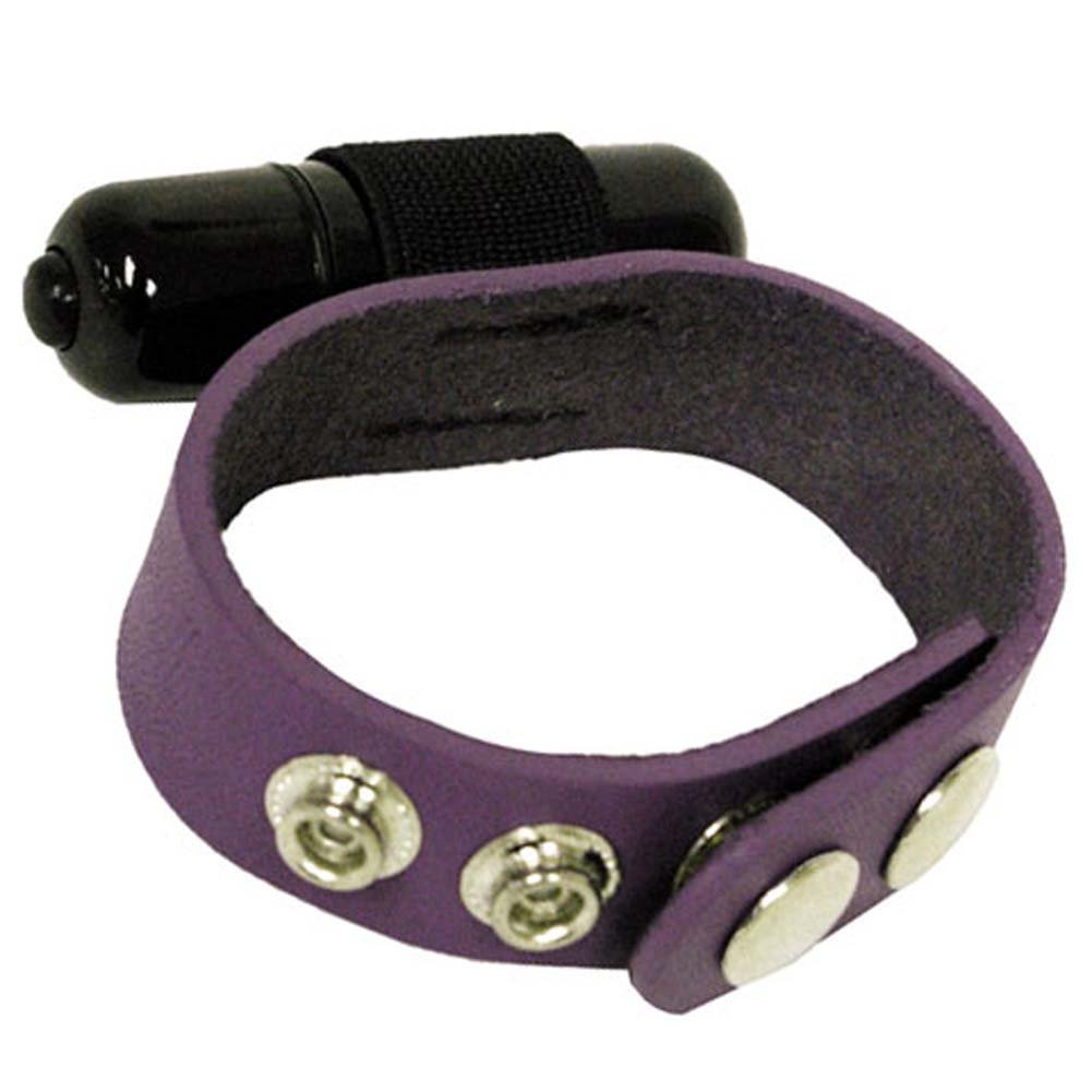 Spartacus Crave Leather Cockring with Vibrating Bullet - View #2