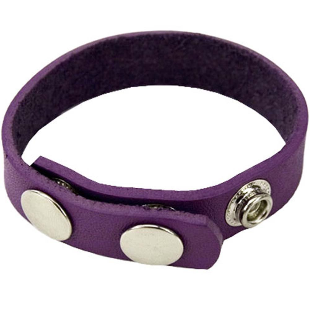 Spartacus Crave Leather Cockring Purple - View #1