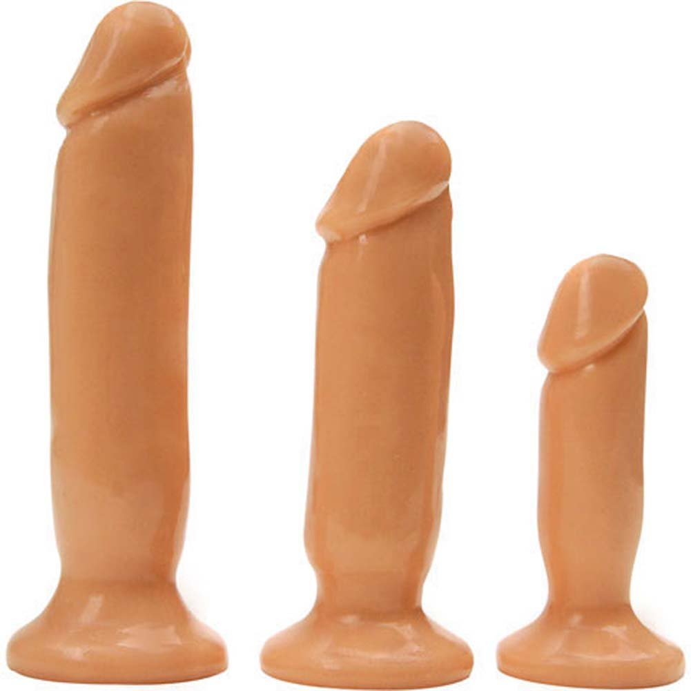 Rascal Toys Initiation Kit with 3 Anal Plugs Natural RbDV - View #3