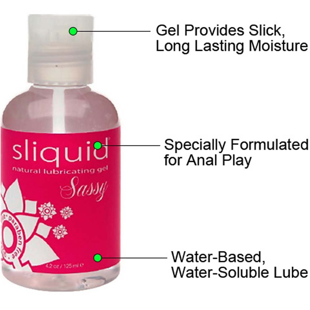 Njoy Pure Metal Plug Large with Sliquid Sassy Anal Lube - View #4