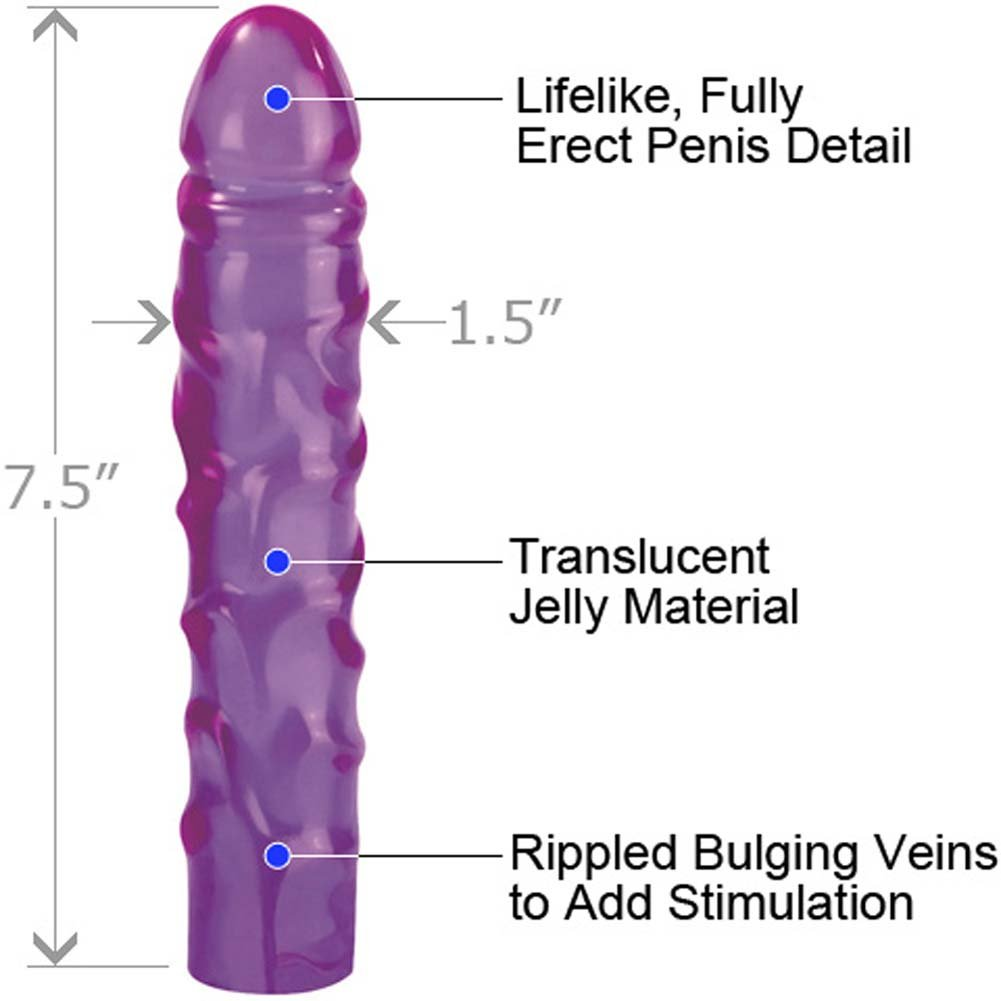 Reflective Gel Jr Dong Combo with Lube and Vibro Bullet - View #1