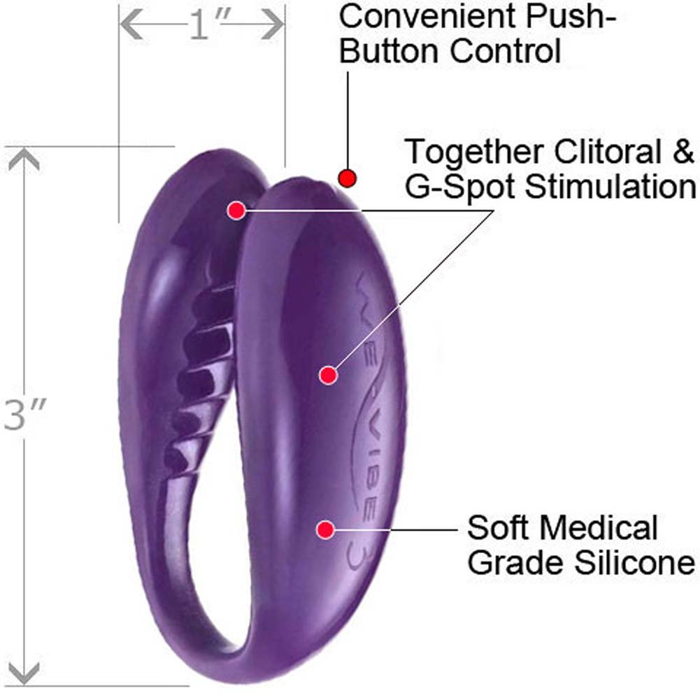 We-Vibe 3 Wireless G-Spot Vibrator and Lube Combo Purple - View #3