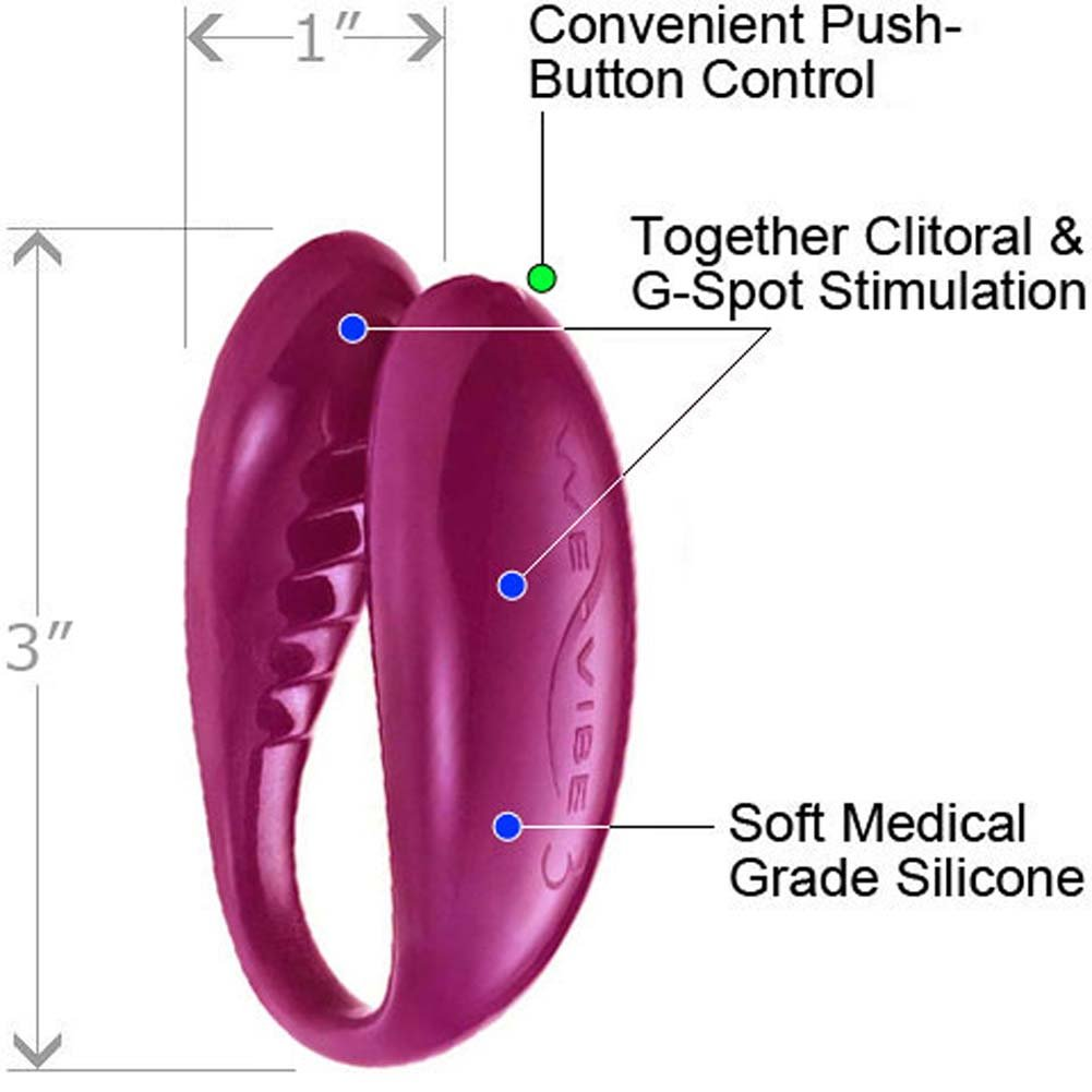 We-Vibe 3 Wireless G-Spot Vibrator and Lube Combo Ruby - View #3