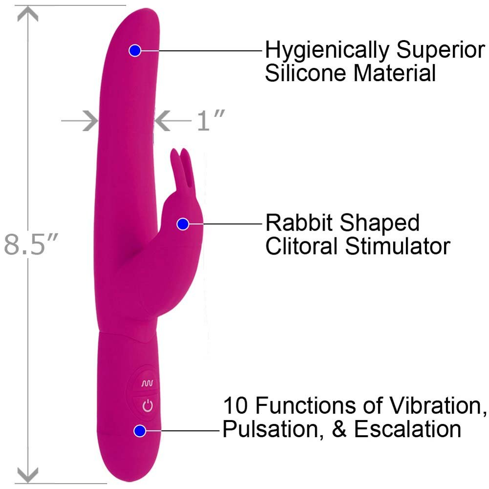Posh 10-Function Silicone Bounding Bunny - Pink and High Intensity Bullet Vibrator Combo - View #1