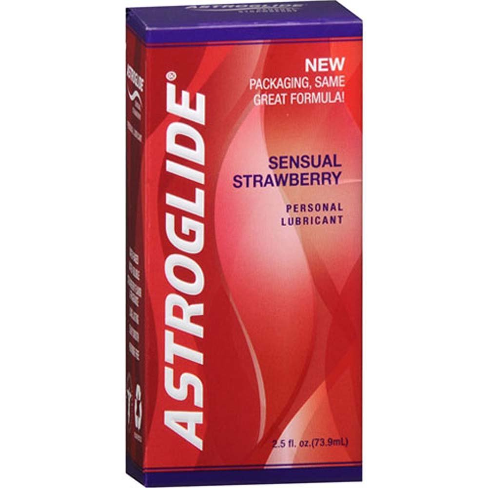 Astroglide Sensual Strawberry Lube 2.5 Fl.Oz 71 mL Bottles Pack of 2 - View #1