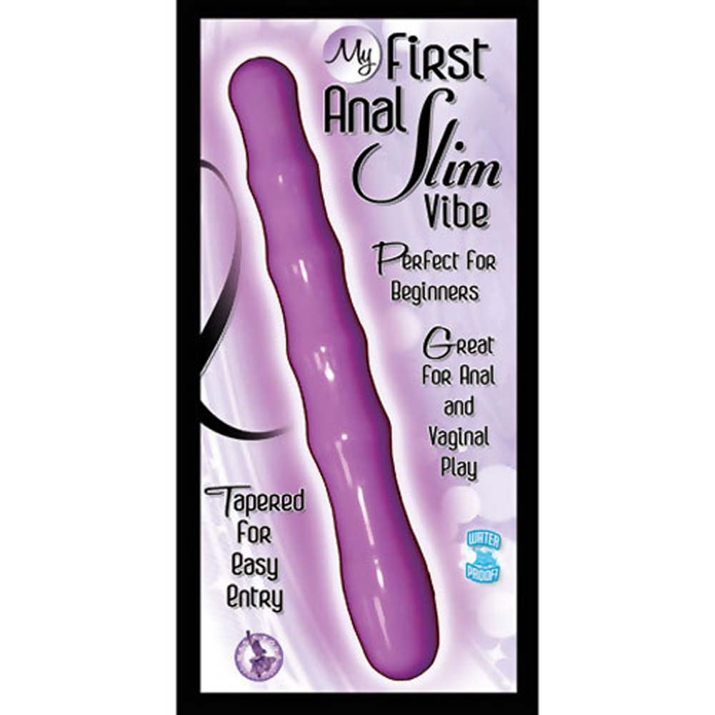 Easy Entry Waterproof Tapered Beginners First Choice Slim Anal Vibe With Free Lube - View #3