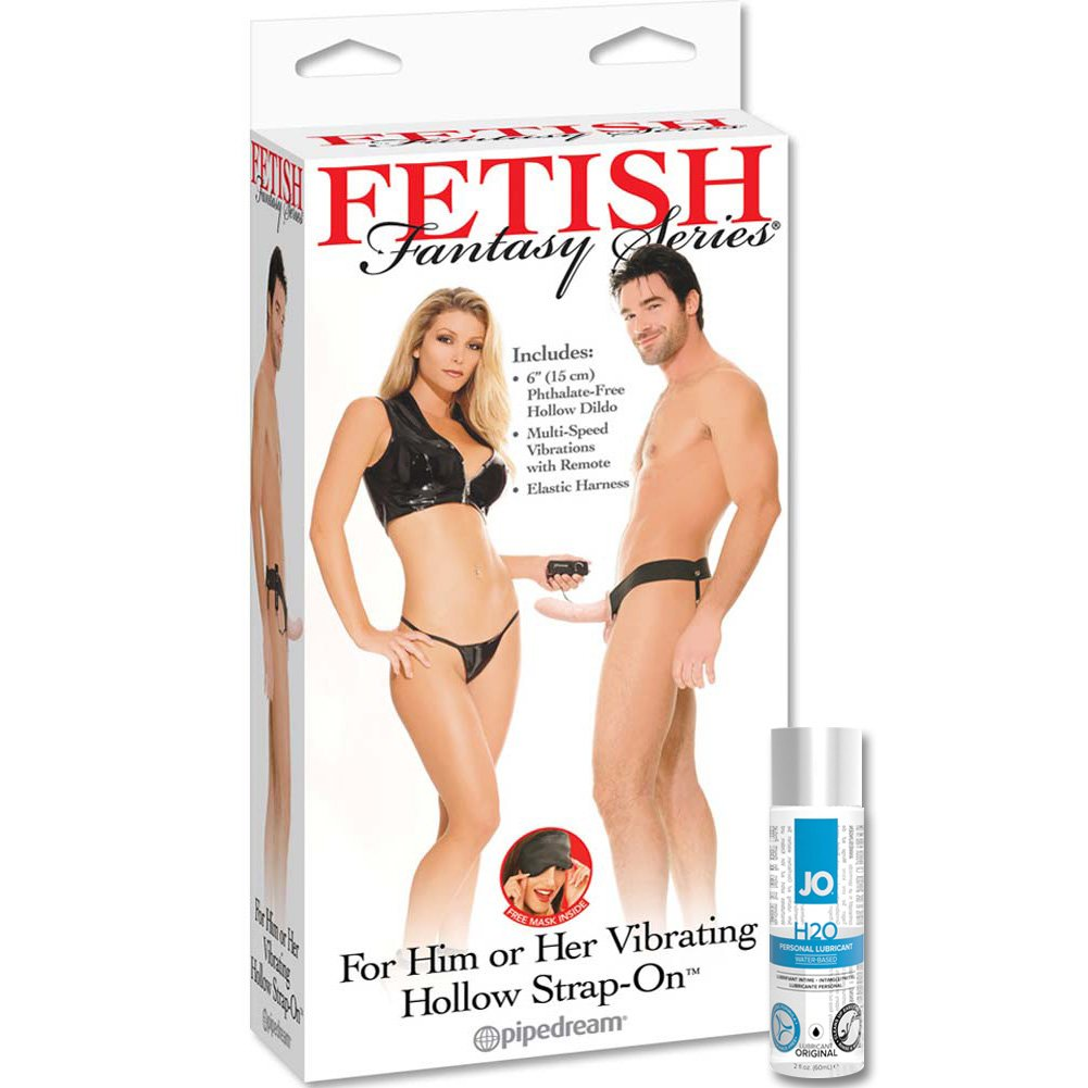 Fetish Fantasy Vibrating Hollow Strap-On With JO H2O Personal Lube 2.5 Fl. Oz. - View #2