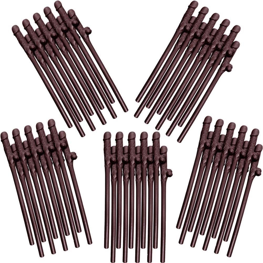 Chocolate Dicky Sipping Straws 10/Pk Package Of 5 - View #2