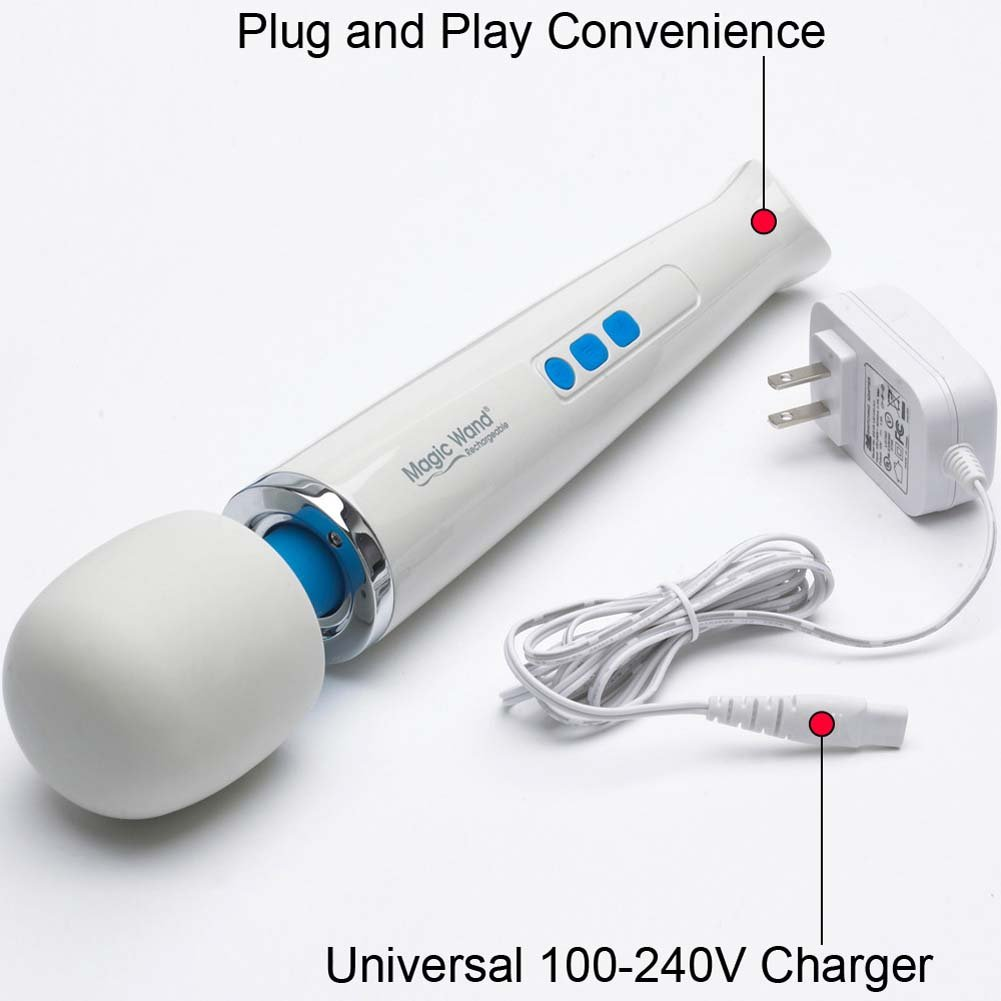 Rechargeable Hitachi Original Magic Wand Massager HV-270 Green Tea Tree Oil Toy Cleaner - View #3