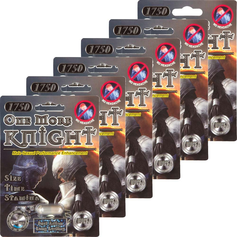 One More Knight Sexual Enhancer for Men 6 Pill Pack - View #1