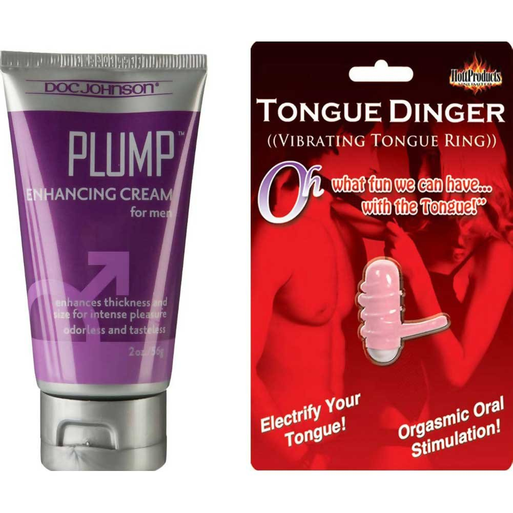 Plump Enhancement Cream For Men and Tongue Dinger Vibrating Ring Combo - View #2