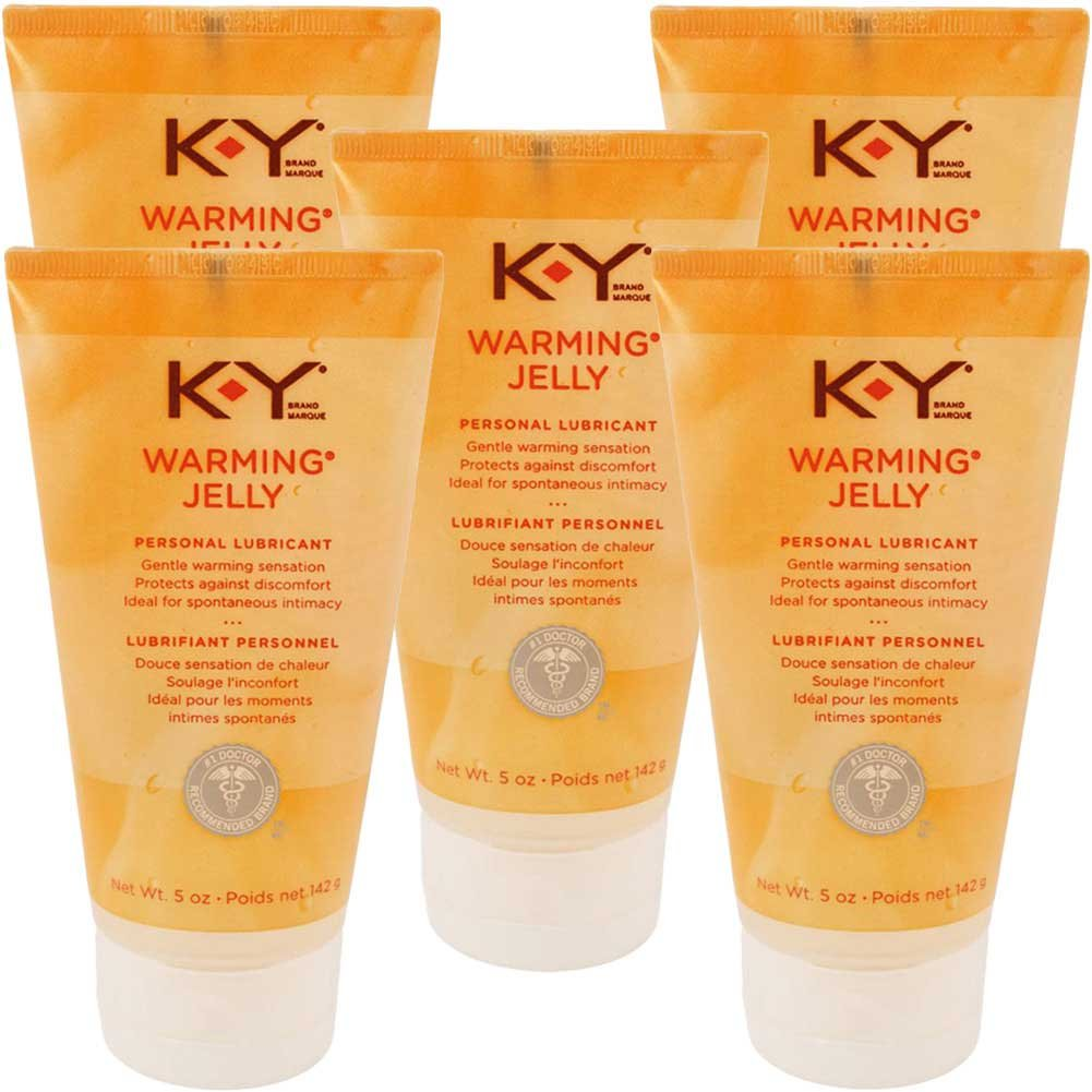 K-Y Jelly Warming Water-Based Lubricant 5 Fl.Oz 148 mL Pack of 5 - View #1