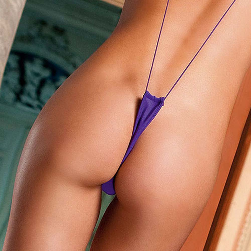 Slingshot Microfiber Thong Purple - View #4