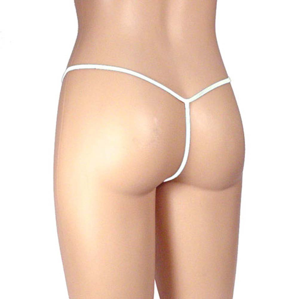 G-String Panty Sheer Mesh White - View #1