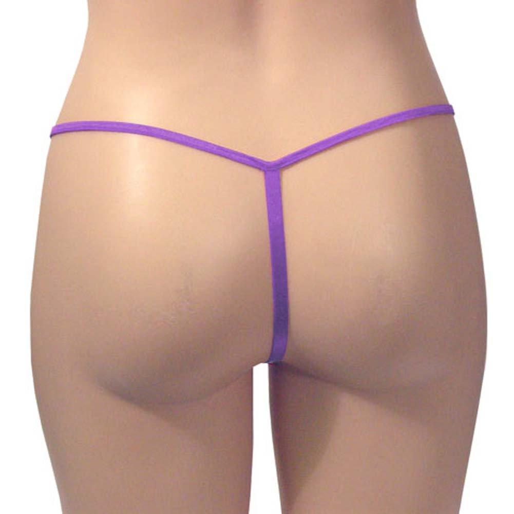 G-String Panty Purple Plus Size - View #2