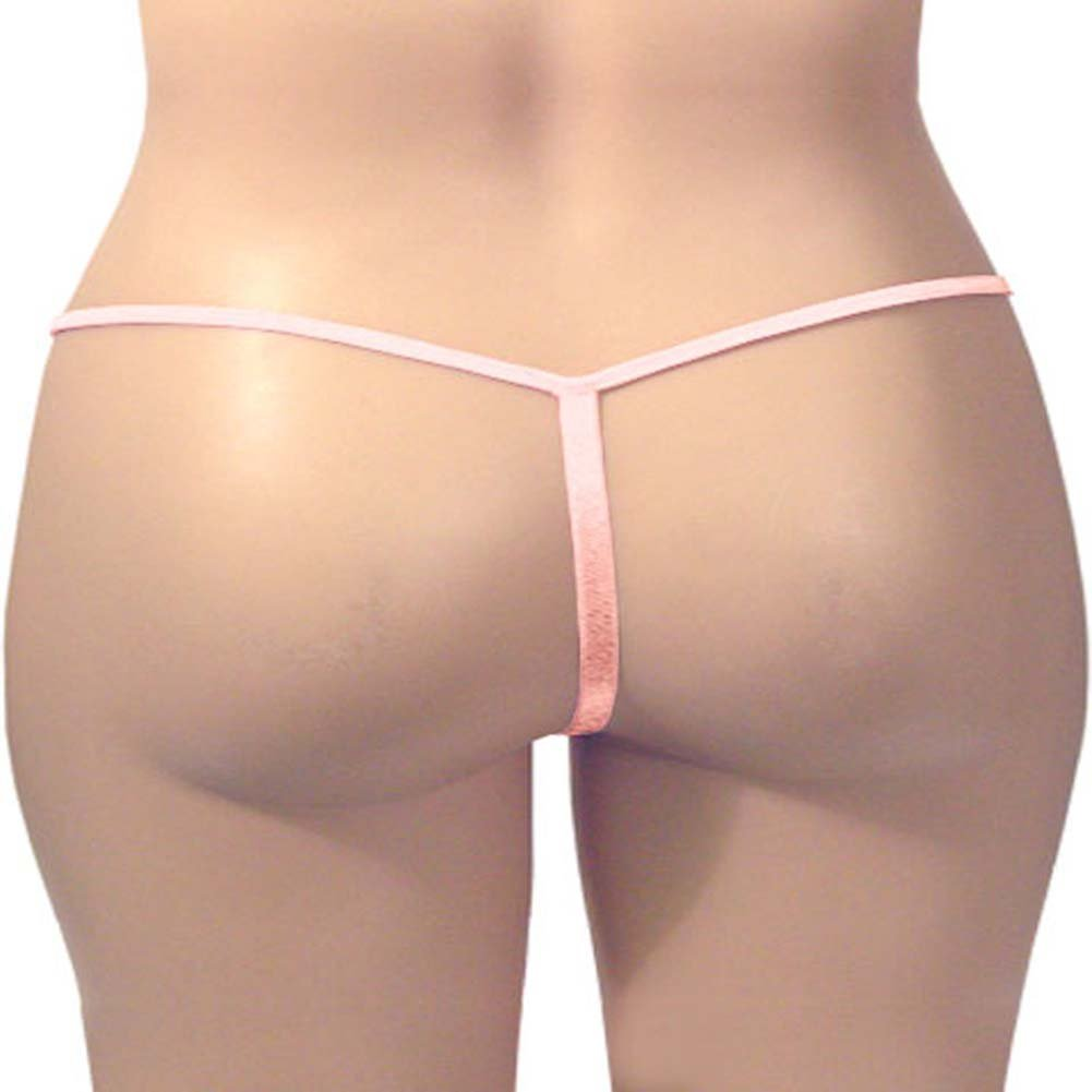 G-String Panty Light Pink Plus Size - View #3