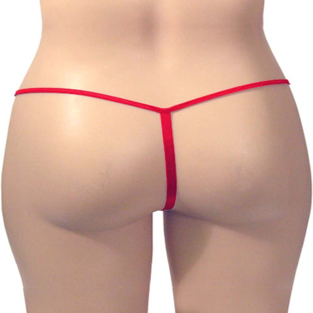 G-String Panty Red Plus Size - View #3