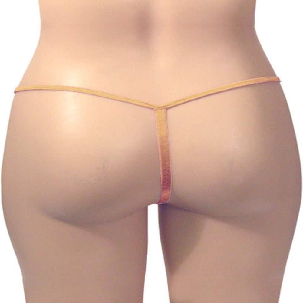 G-String Panty Gold Champagne Plus Size - View #3