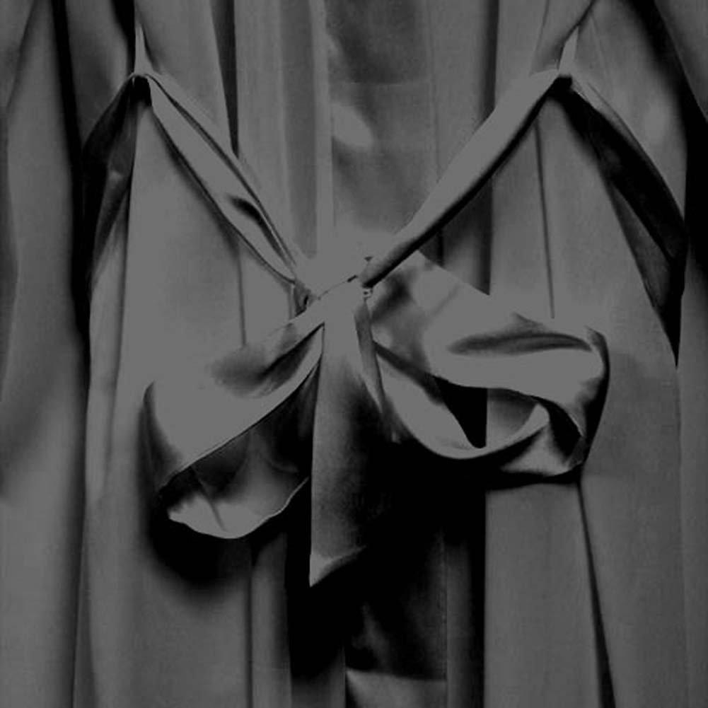 Appliqued Sleeve Robe Black Plus Size 4X - View #4