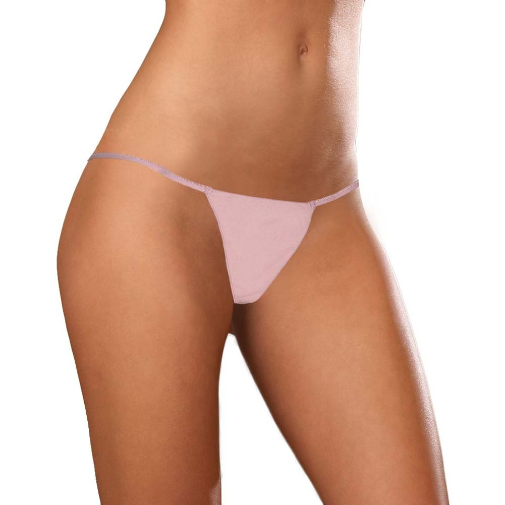 Dear Lady Collection Silk G-String Panty Medium Lotus Blush Pink - View #1