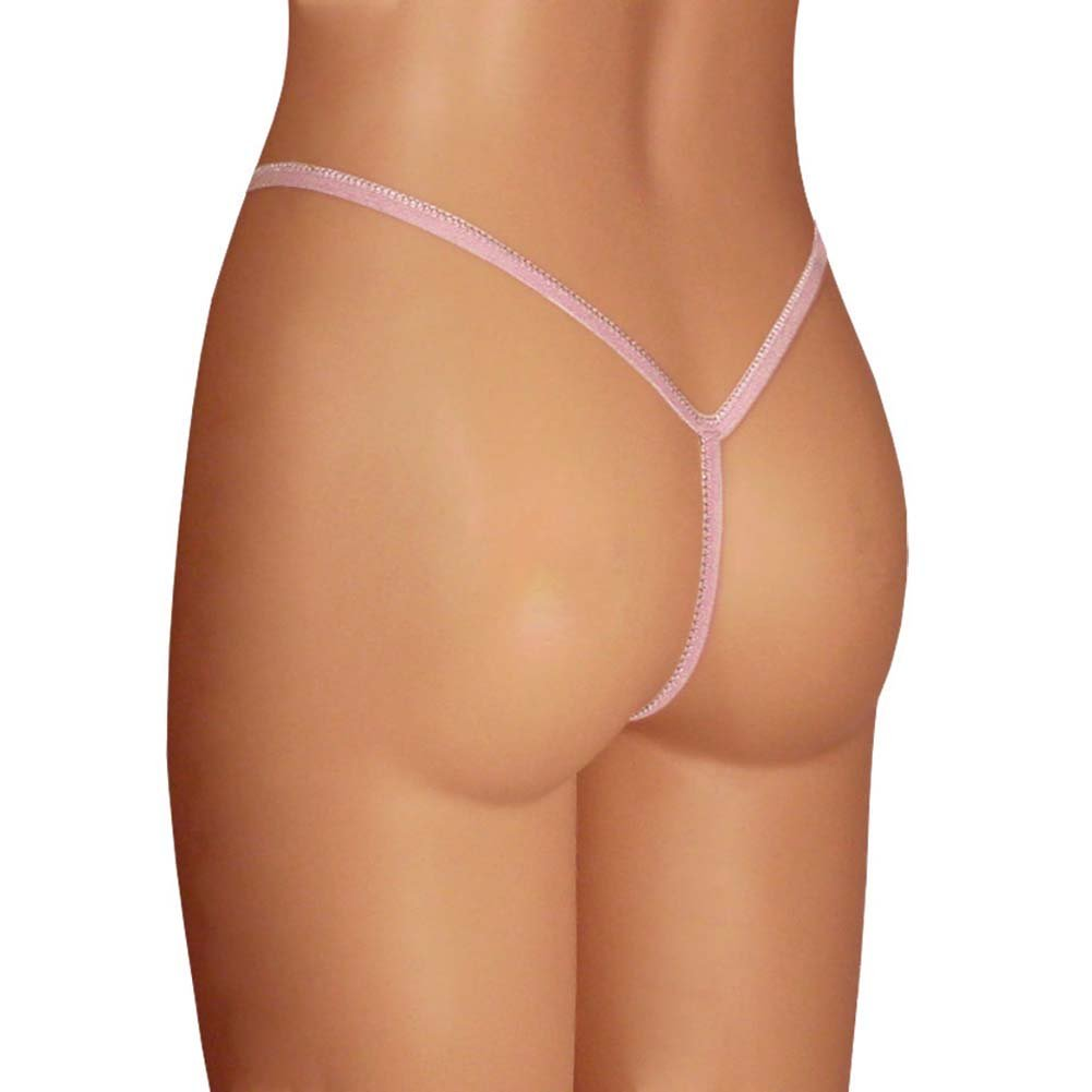 Dear Lady Collection Silk G-String Panty Large Lotus Blush Pink - View #2
