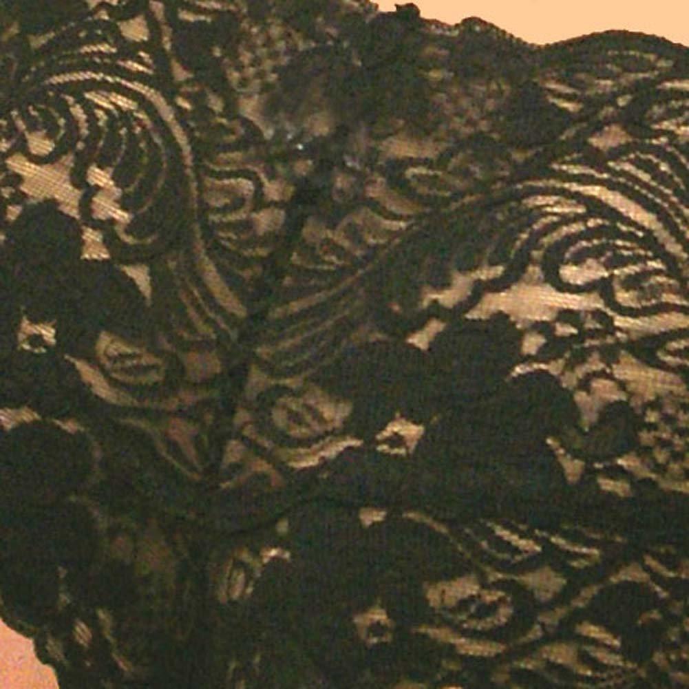 Stretch Lace Tanga Shorts Black Plus Size 1X - View #4
