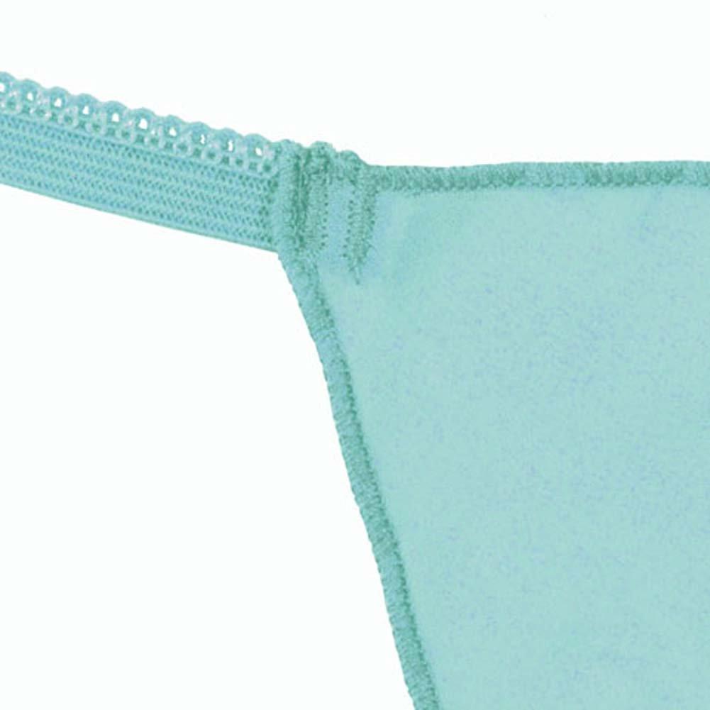 Silk G-String Panty Aqua Fresh One Size - View #3