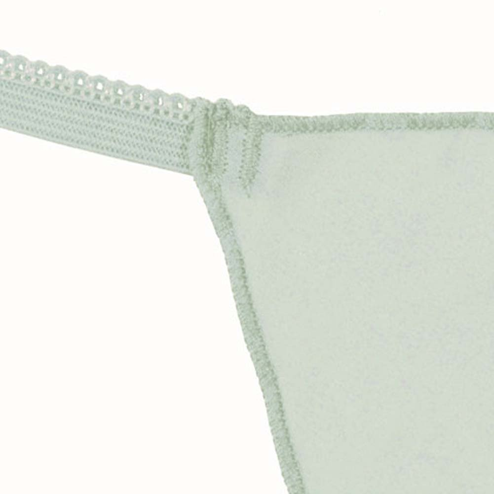 Dear Lady Collection Silk G-String Panty for Women Large Sea Foam Blue - View #3