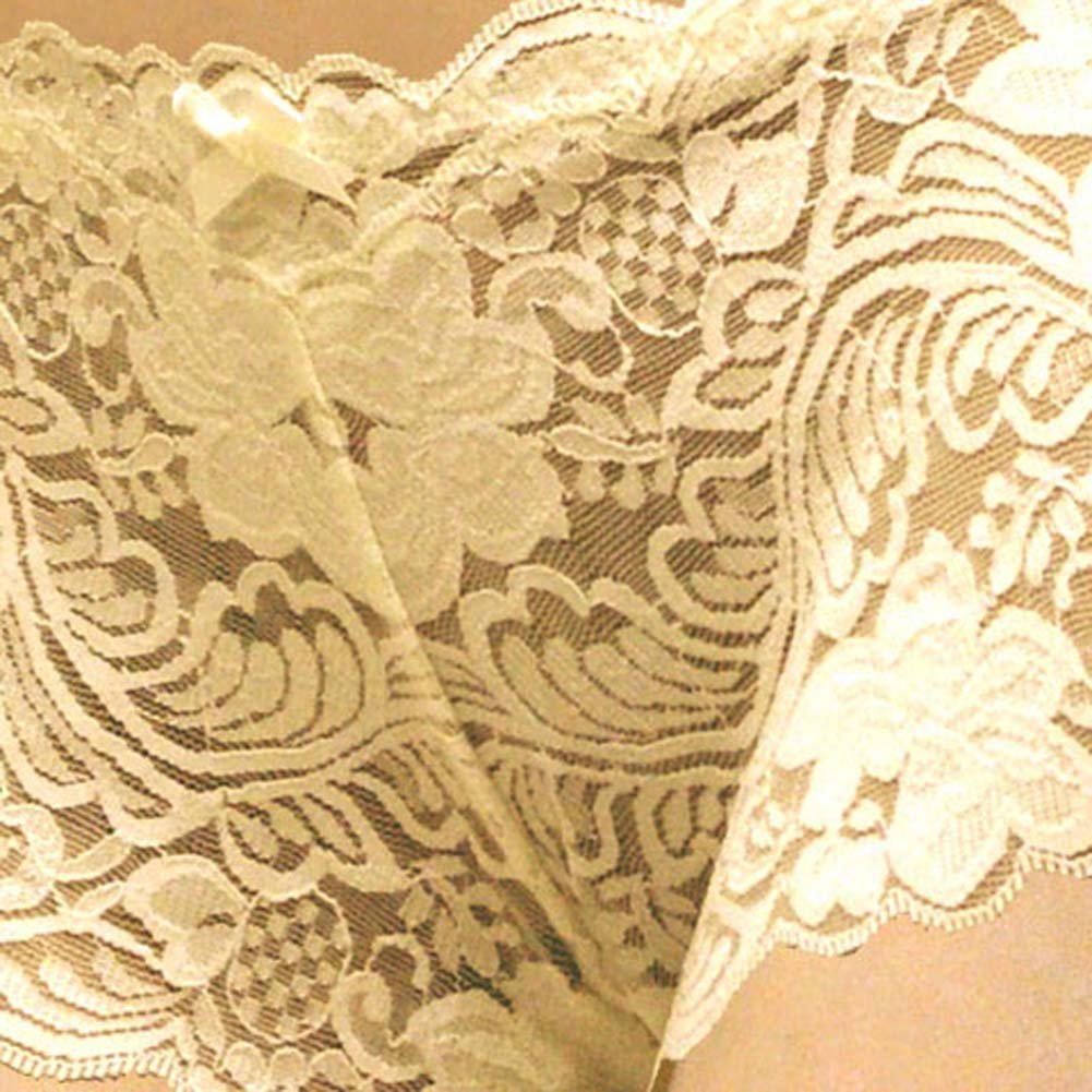 Floral Lace Boy Short Panty for Women Extra Small Ivory Orchids - View #3