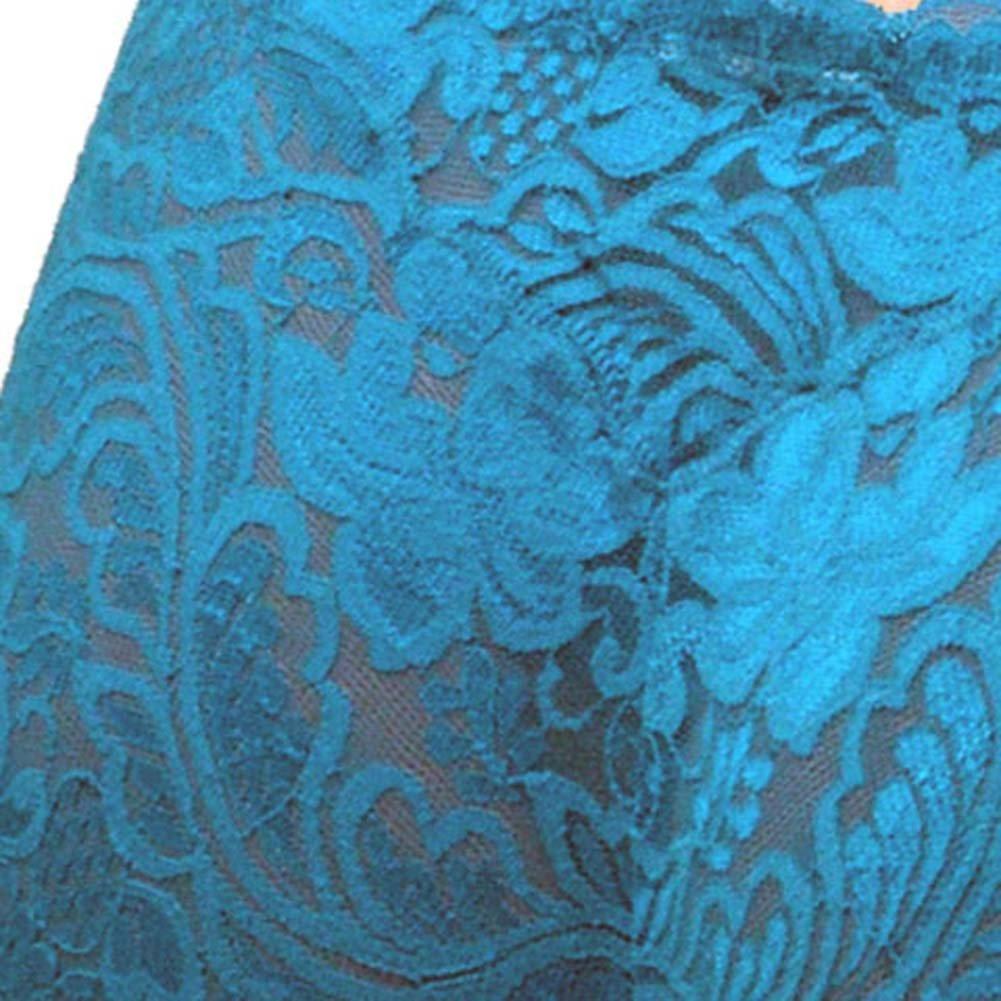 Floral Lace Boy Short Panty Blue Asters XX Large Size - View #4