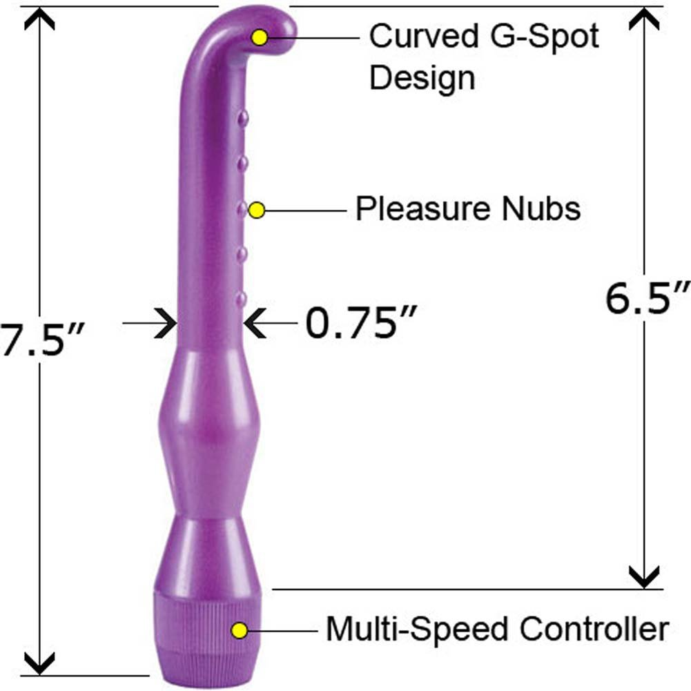 Waterproof G-Spot Wand Purple 6.5 In. - View #2