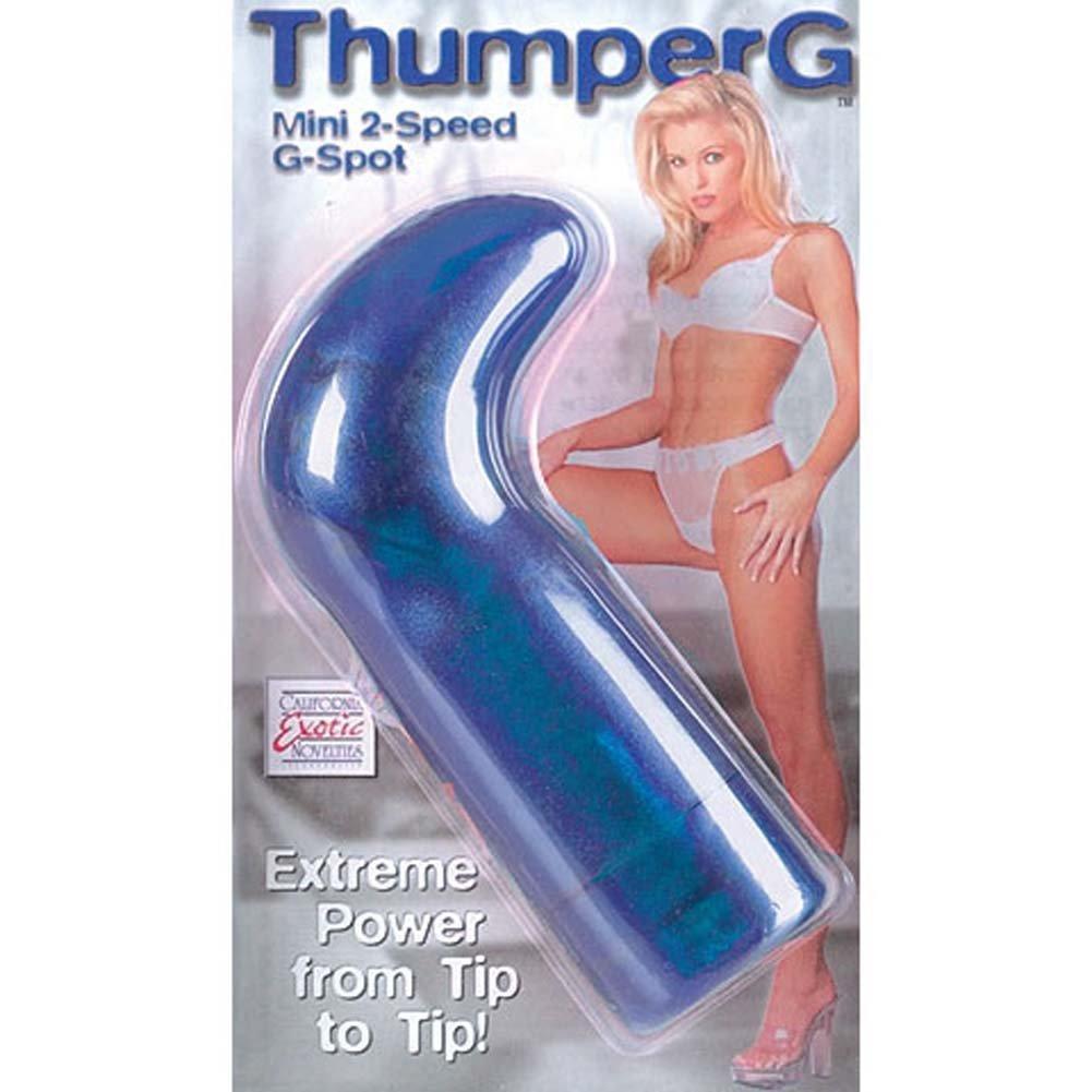 Thumper G Mini G-Spot Vibe Sapphire 5 In. - View #2