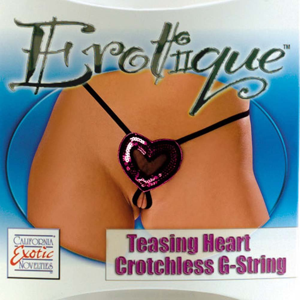Erotique Teasing Heart Crotchless G-String - View #1