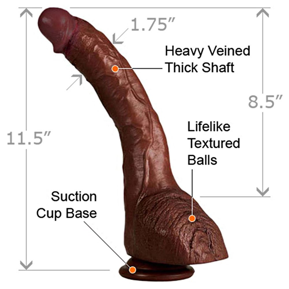 "California Exotics COLT Adam Dexters Cock with Balls 11.5"" Ebony - View #1"