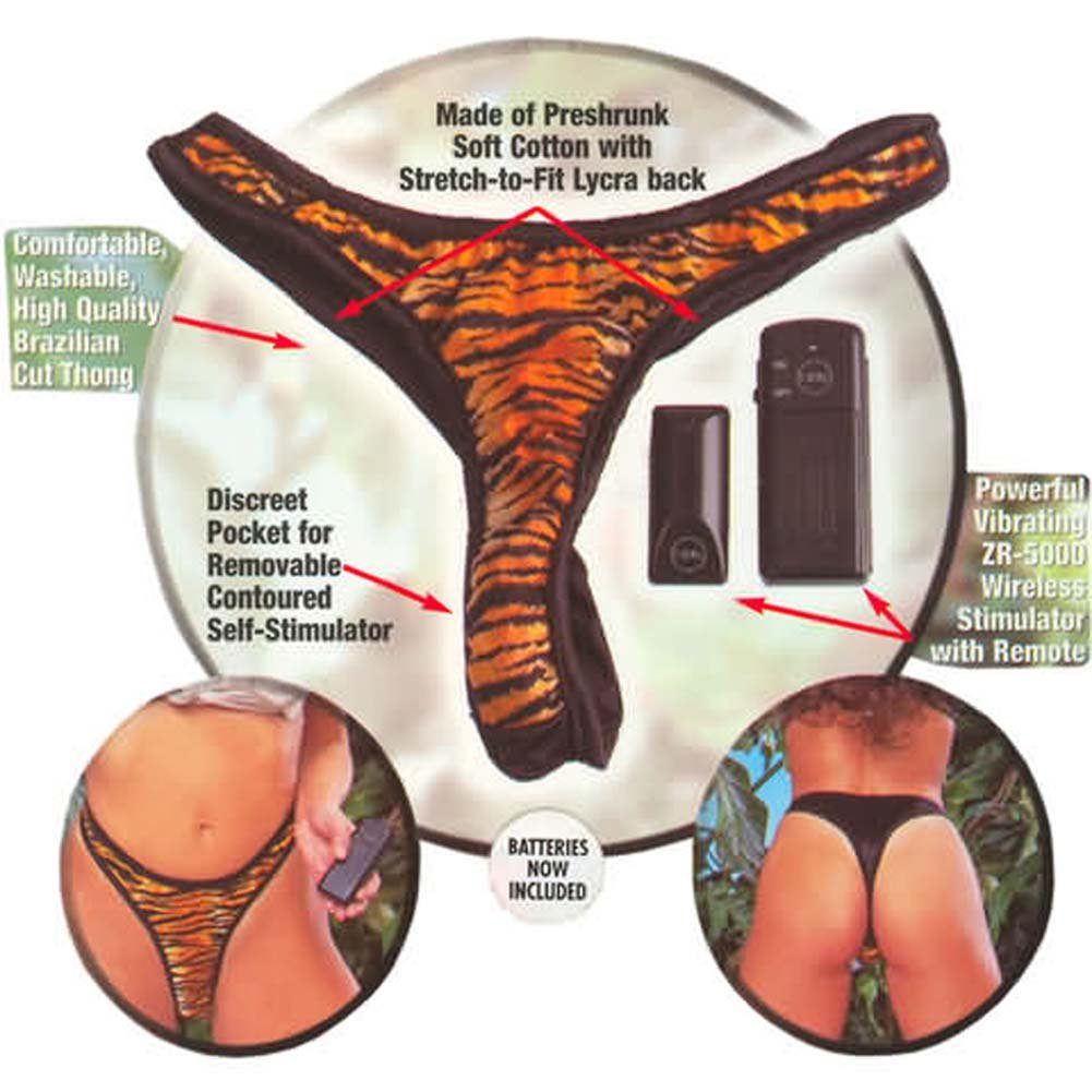 Wild Exotics Collection Remote Control Vibrating Panty Tiger - View #2