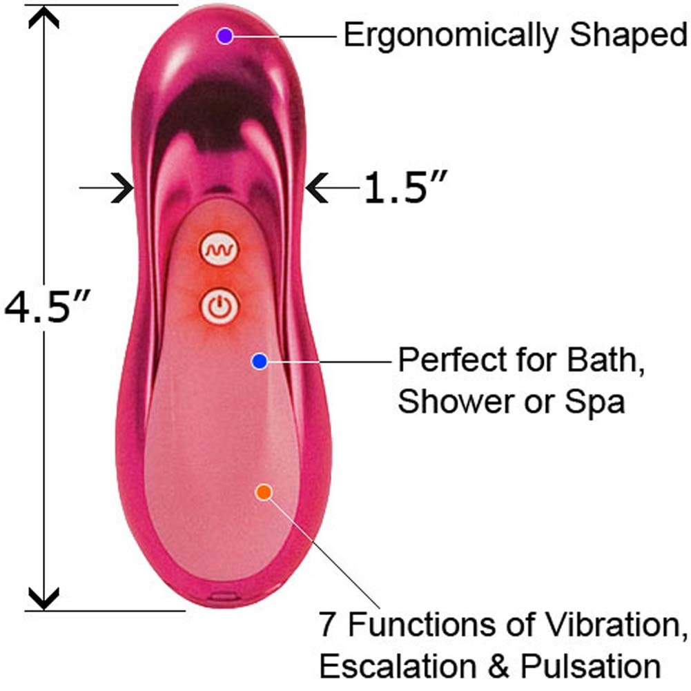 "Couture Collection Masseur Silicone Personal Massager 4.5"" Pink - View #1"