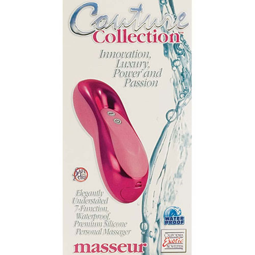 "Couture Collection Masseur Silicone Personal Massager 4.5"" Pink - View #3"