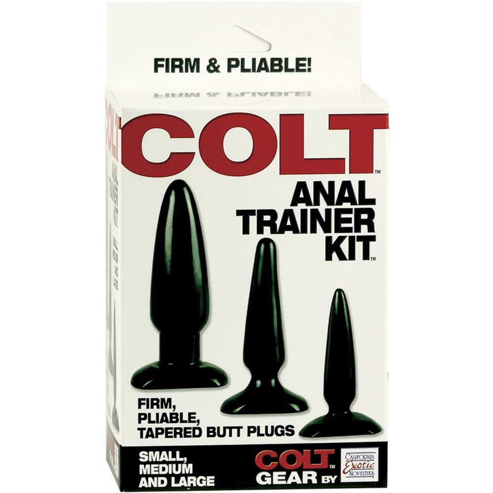 COLT Anal Trainer Kit with 3 Butt Plugs by California Exotics Black - View #4