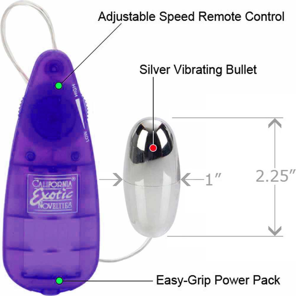 "Bulk Slim Teardrop Vibrating Bullet 2.25"" Purple - View #1"
