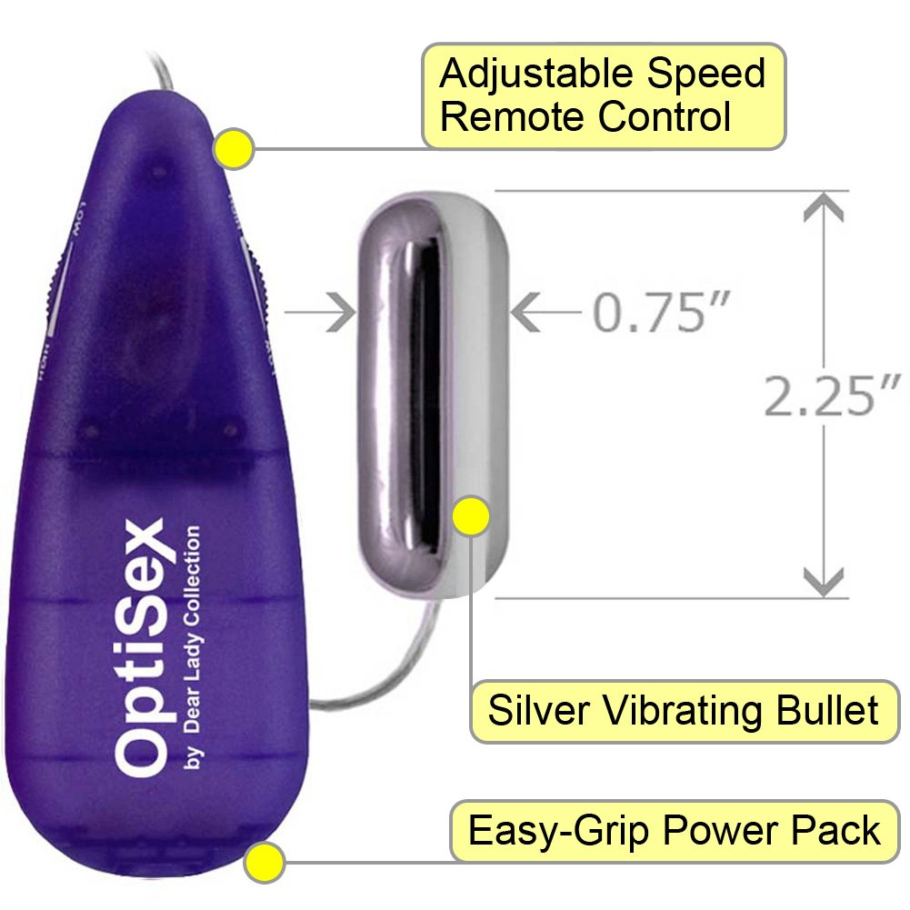 Silver Bullet Vibrator Sex Toy with Slim Fit Multi Speed Controller Assorted Colors - View #1