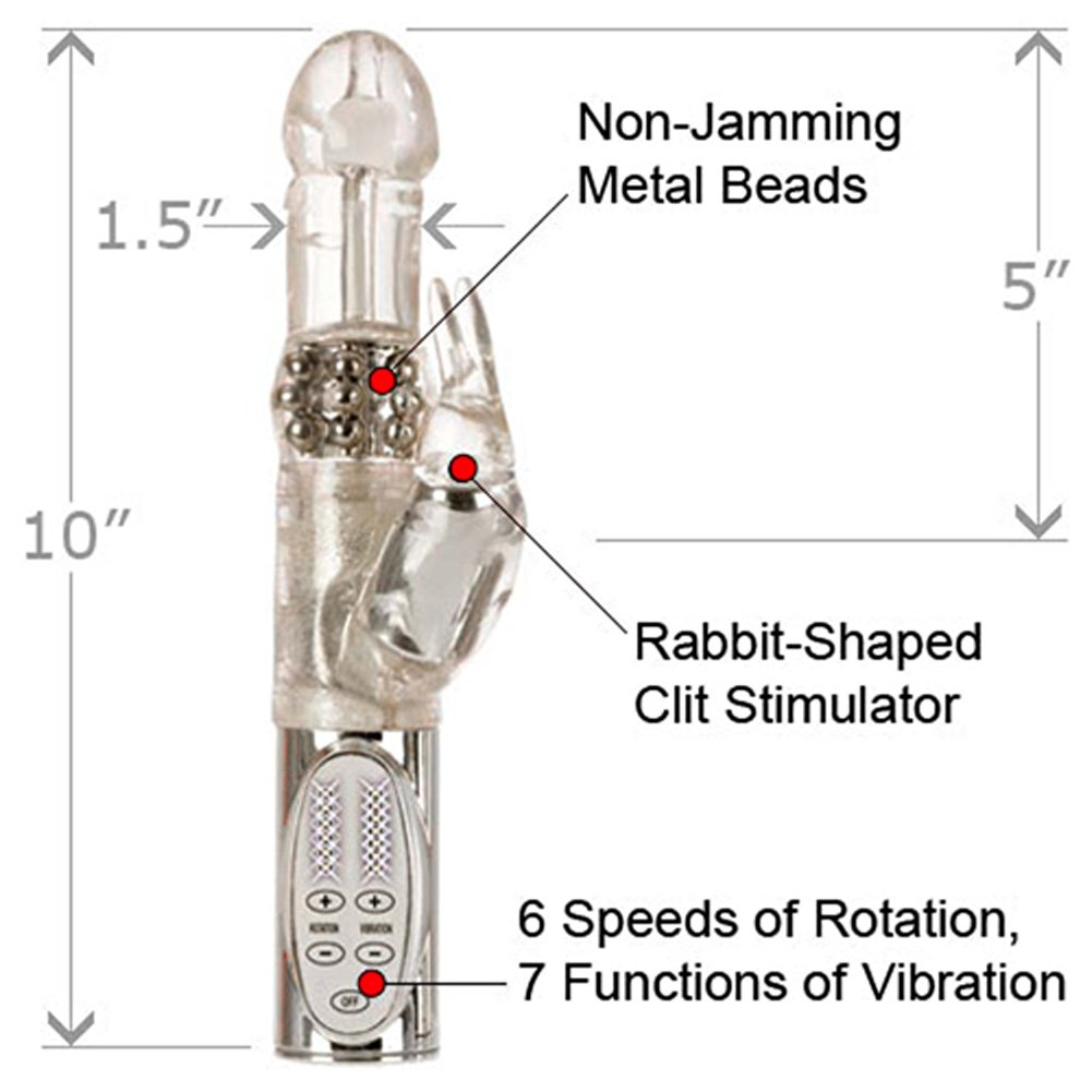 "California Exotics Jack Rabbit Platinum Collection Intimate Vibrator 10"" Silver - View #1"
