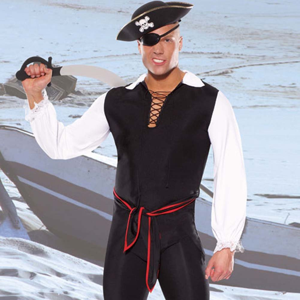 Pirate 5 Piece Costume Set L/XL - View #1